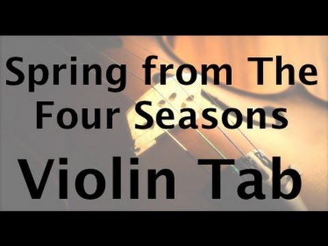 Learn SpringFour seasons vivaldi on Violin  How to Play Tutorial
