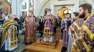 Славление Матроне Московской в Свято - Духовом кафедральном соборе Минска.