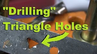 Easy and Simple way to make Triangular Holes with a Drill
