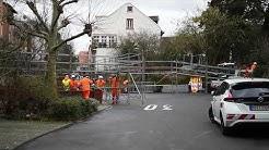 Neckarpegel steigt stark an - Hochwasserstege werden in Heidelberg-Wieblingen aufgebaut