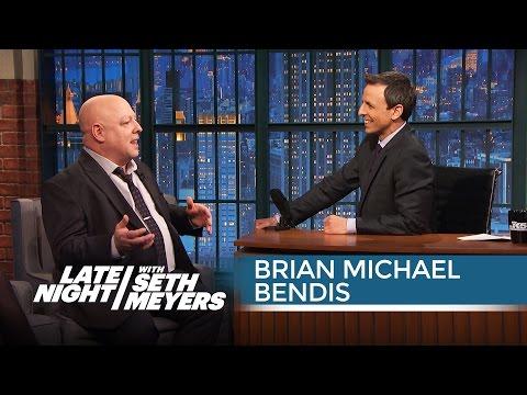 Brian Michael Bendis Talks Marvel's Secret Wars - Late Night with Seth Meyers