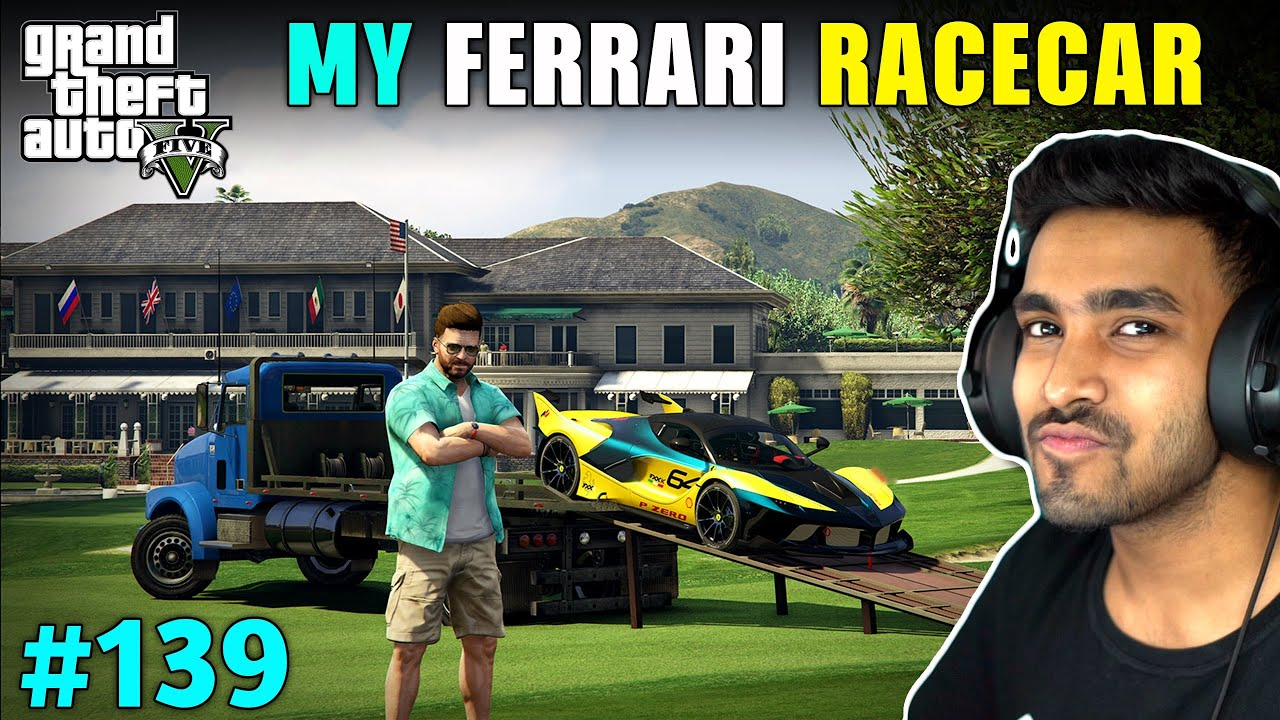 Download TAKING DELIVERY OF A FERRARI RACECAR | GTA V GAMEPLAY #139