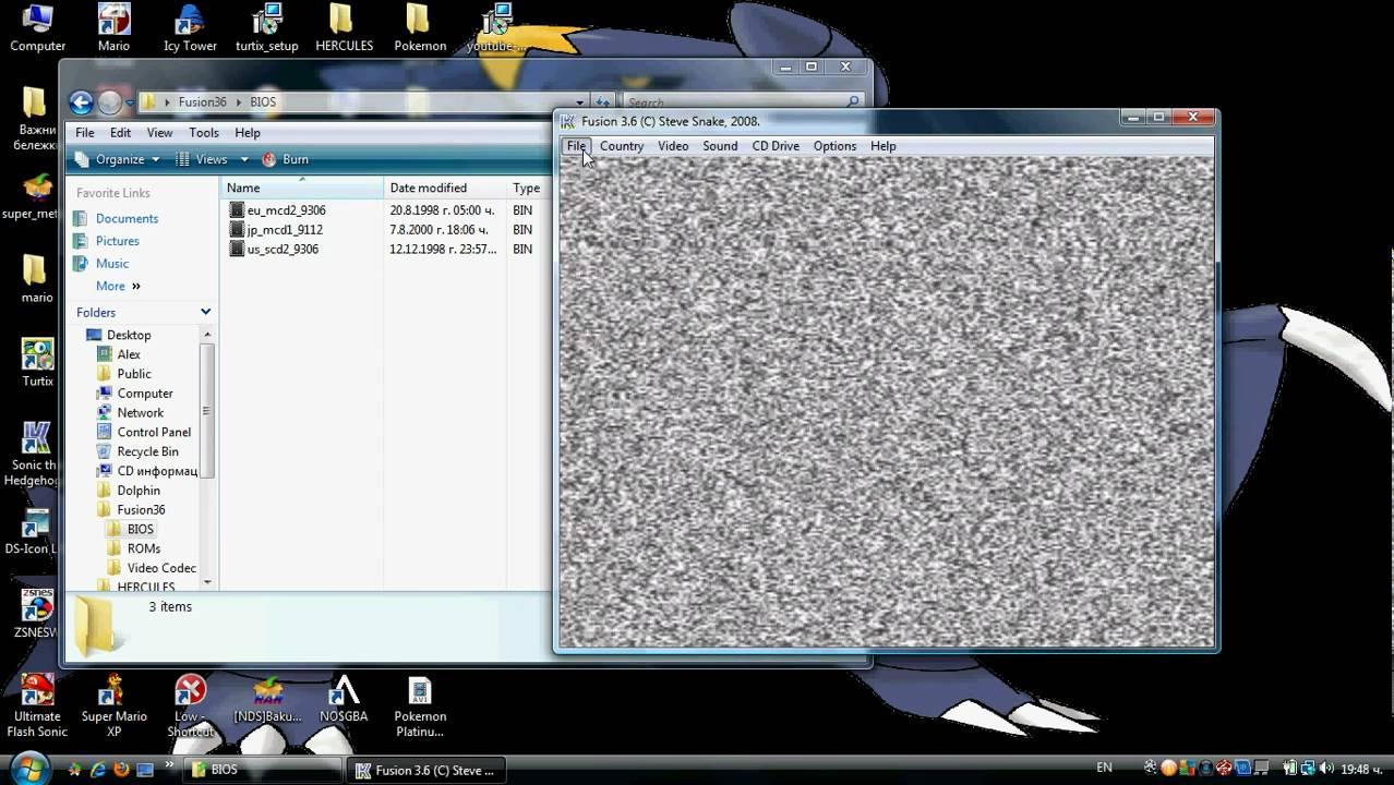 How to play SEGA CD ROMs of Fusion emulator avi