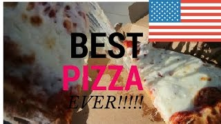 Biggest pizza slice ever!!!! - The American Dream Vlog 2