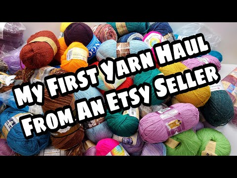 My First Yarn Haul From A Seller On Etsy | Yarn Unboxing | Bag O Day Crochet Subtitles Available