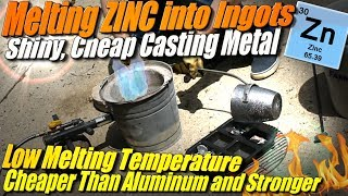 Melting Zinc Metal into Ingots for Sand Casting at Home in my improved Mini Metal Foundry!