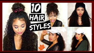 10 Fall/Winter Curly Hairstyles with Satin Accessories | Lana Summer