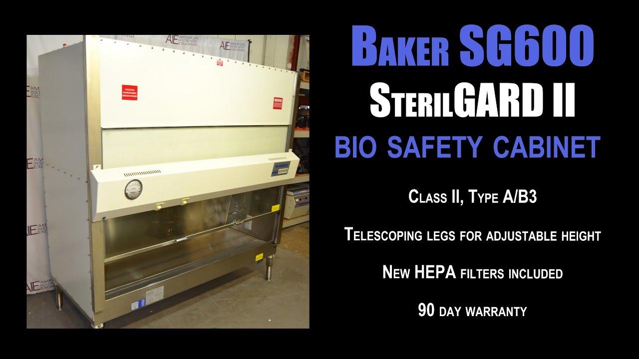 Baker SterilGARD II SG600 biological safety cabinet (0884 BIO CAB ...
