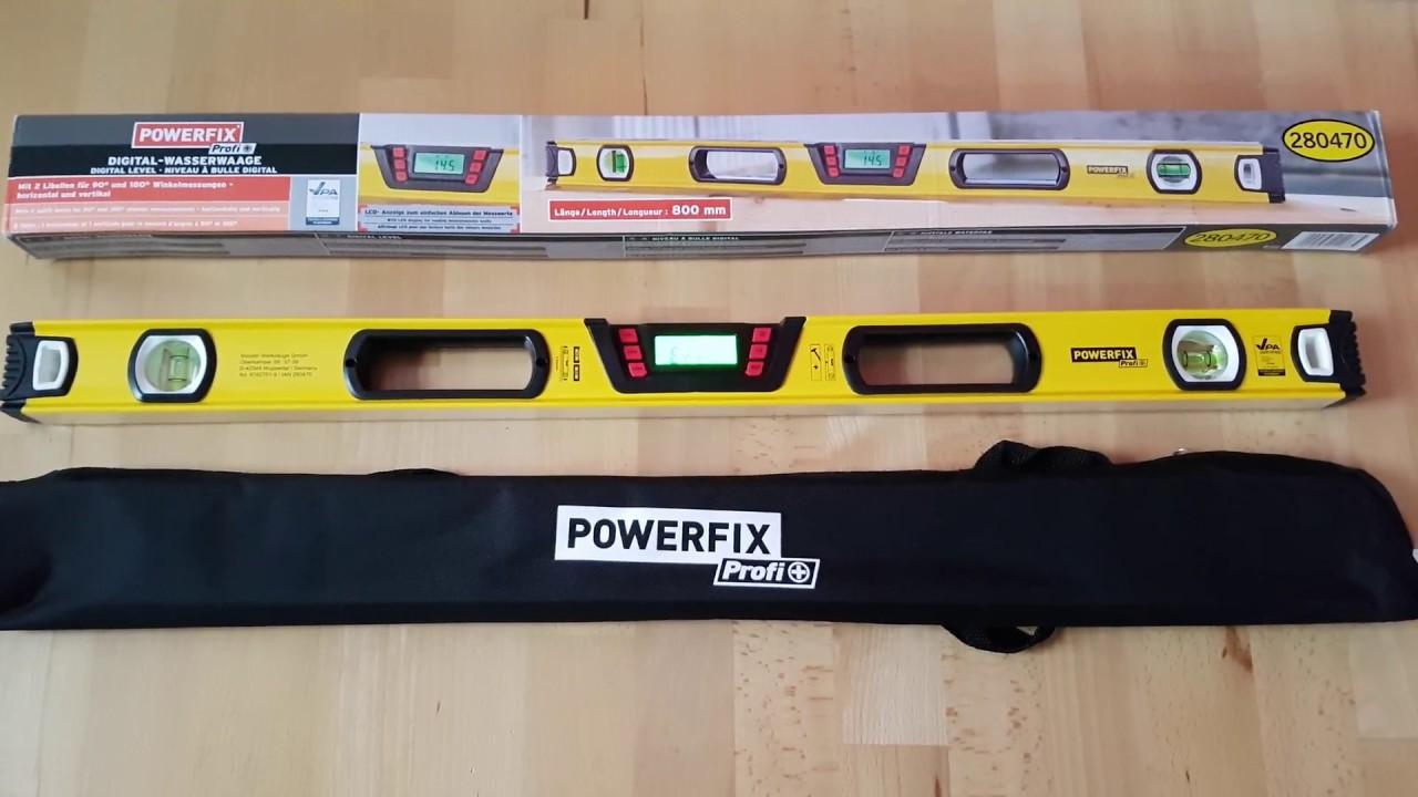 Powerfix wasserwaage digital mit winkelmessung youtube