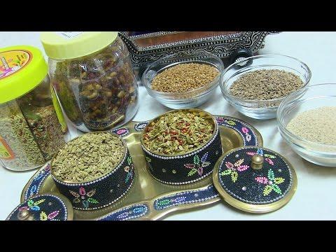 Homemade Multi seeds Mukhwas Video Recipe - Mouth Freshener