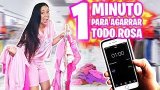 1 MINUTO para AGARRAR TODO ROSA en una TIENDA! 😅 RETO de Outfits 👗 SandraCiresArt VS HaroldArtist 😈