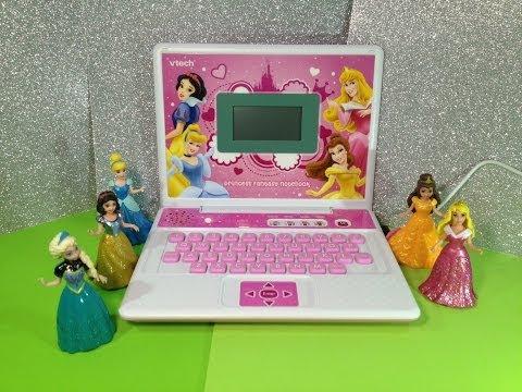 Disney Princess Fantasy Notebook by Vtech a Disney Princess Laptop Toy Computer