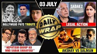 Bollywood EMOTIONAL For Saroj Khan, Sadak 2 In Legal Trouble, Salman VS Akshay | Top 10 News