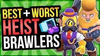 HEIST TIER LIST! Best u0026 Worst Brawlers for Heist (Brawl Stars)