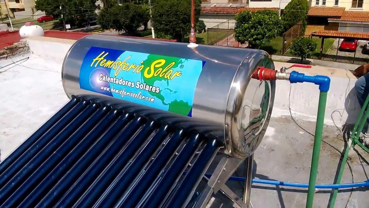 Aprenda a instalar su calentador solar parte 2 conexiones hidr ulicas youtube - Calentadores solares para piscinas ...