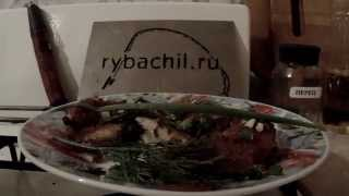 Окунь речной жаренный в панировочных сухарях.Видео rybachil.ru.