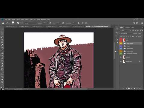 Comics Book Photoshop Action Tutorial Video