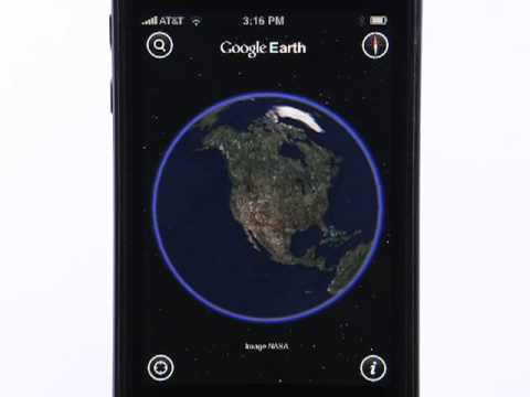 Google Earth for iPhone and iPod contact thumbnail
