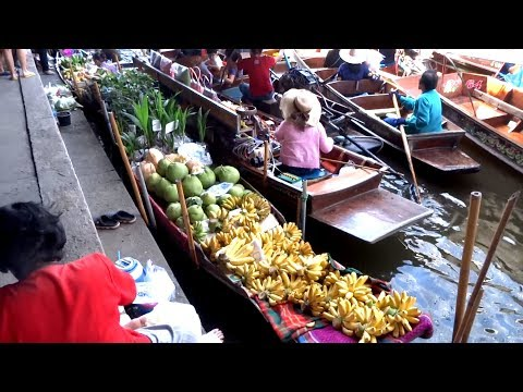 Bangkok,The Best Floating Market in Bangkok Thailand. Tourist Attractions