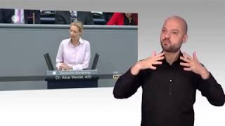 Gebärdensprachvideo: Generalaussprache zum Haushalt 2018