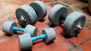 How To Make Homemade Weights (DIY Dumbbell) Gym at home/#2