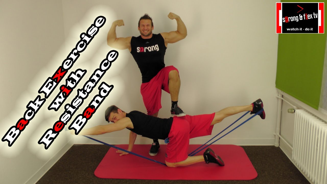 no more back pain exercise with resistance band rh youtube com