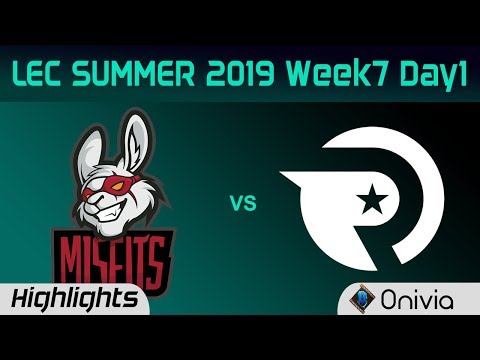 MSF vs OG Highlights LEC Summer 2019 W7D1 Misfits Gaming vs Origen LEC Highlights By Onivia