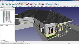make a house in freecad: tutorial. export to blender