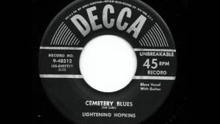 Cemetery Blues - Lightening Hopkins
