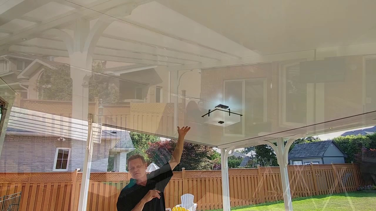 Patio Cover With Translucent Sheets And Insulated Panels