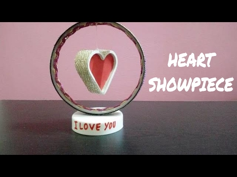 DIY Paper Heart Showpiece   How to Make A Paper Heart Showpiece