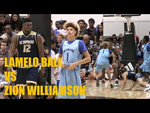 LaMelo Ball Vs. Zion Williamson CRAZY GAME @ Adidas Championships