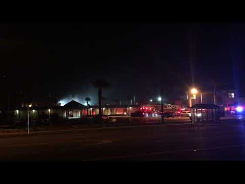 Cocoa Beach International Palms Hotel on Fire