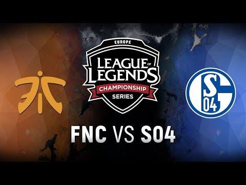FNC vs. S04 - Week 9 Day 2 | EU LCS Spring Split |  Fnatic vs. FC Schalke 04 (2018)