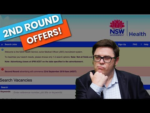 NSW Health Second Round Job Offers 2019