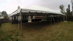 30 x 50 Frame Tent Set up and down