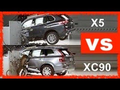 2019 Volvo XC90 vs 2020 BMW X5 (CRASH TEST) - YouTube