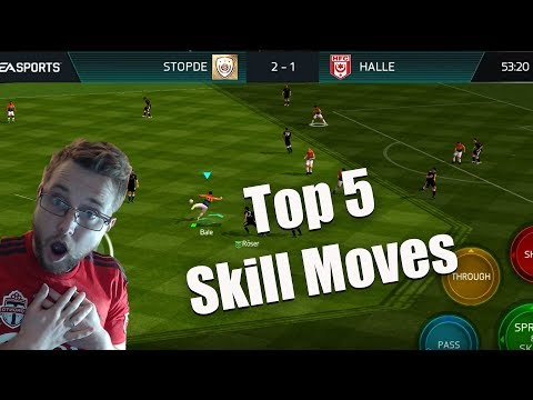 The Top 5 Skill Moves in FIFA Mobile 18! How to do the El Tornado, Rainbow Flick and More!