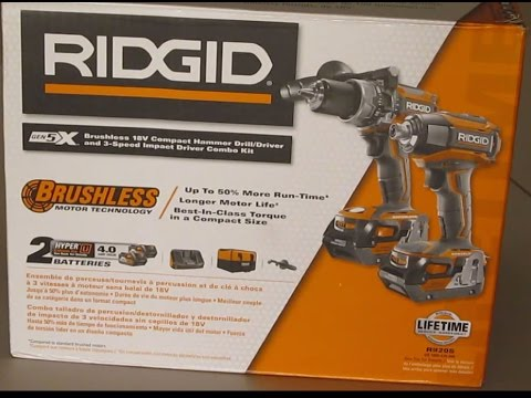 Review: Ridgid 18V Brushless Hammer Drill & Brushless Impact driver Gen5x tool kit