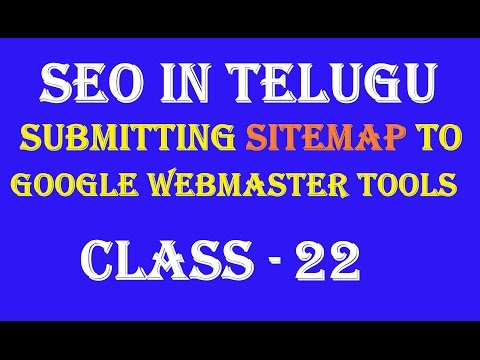 How to submit sitemap to Google web master tool in telugu-Class 22