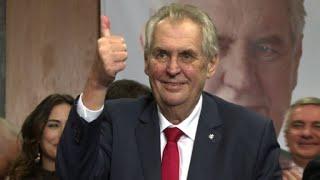 Pro-Russian Zeman celebrates his re-election