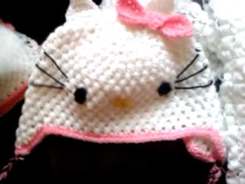 Puff Stitch Hat And Scarf Kitty Hello Video Response Art Of