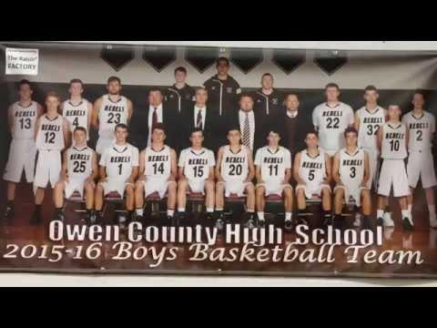 Owen County High School Boys Basketball Senior Awards Night 2016
