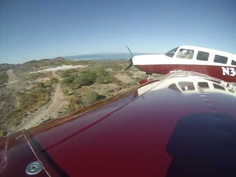 Mexico Dirt Airstrip Landing with Saratoga 3 Camera angles