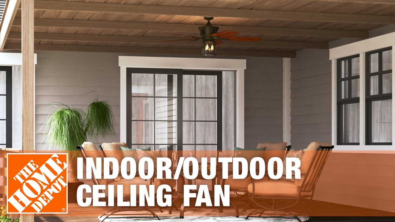 Hampton Bay Milton 52 in. Indoor/Outdoor Ceiling Fan - The Home ...