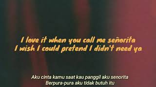 SHAWN MENDES ft CAMILA CABELLO - SENORITA (Lyrics) dan terjemahan bahasa indonesia