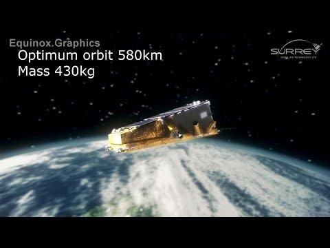 NovaSAR satellite animation for SSTL