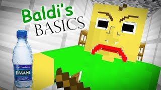 Monster School : BALDI'S BASICS CHALLENGE - Minecraft Animation (Bottle Flip)