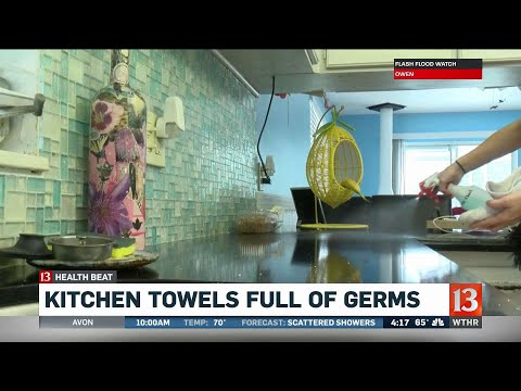 Kitchen towels full of germs