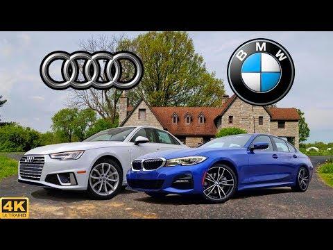 sports-sedan-shootout----2019-audi-a4-vs.-2019-bmw-3-series:-comparison